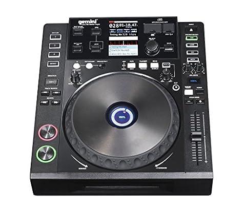 Gemini CDJ Series CDJ-700 Professional Audio DJ Full Color Touch Screen Media Controller with CD, SD, and USB (Media Player Midi Control)