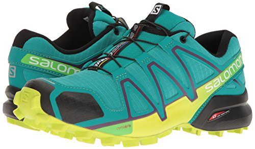 Salomon Women's Speedcross 4 W Trail Runner, Deep Peacock Blue/Lime Punch./Grape Juice, 5 B(M) US by Salomon (Image #6)