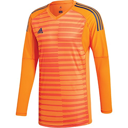 adidas Mens ADIPRO 18 GoalKeeper Jersey lucky orange/orange/unity ink For Soccer (Adidas Goalie Jerseys Soccer)