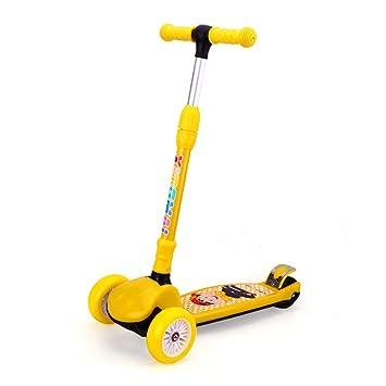 Scooter para Niños De 3 A 12 Años Scooters para Niños Ruedas De Flash De PU