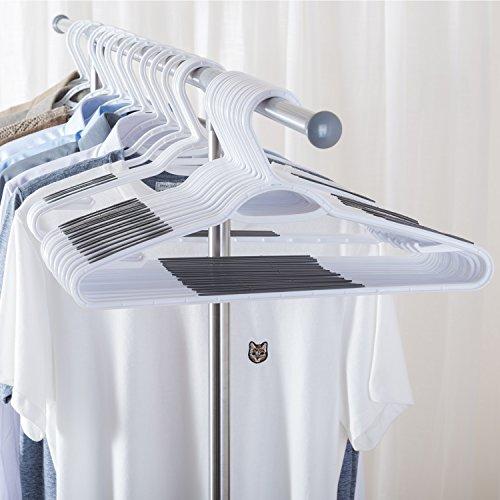 Ollieroo 30 Pack Bendable Plastic Hangers Light-Weight Non-Slip Clothes/Suit Hangers (Grey)