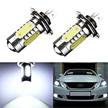 KATUR 2Pcs H7 7.5W COB Projector LED Bulb Xenon Fog Driving DRL Headlight Lamp Running Lights for Auto Machines E1002