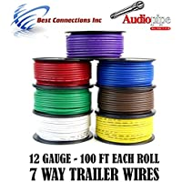 Trailer Wire Light Cable for Harness 7 Way Cord 12 Gauge - 100ft roll - 7 Rolls