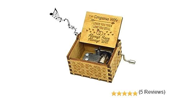 Jsona You Are My Sunshine Caja de m/úsica para esposa para esposa Caja musical de madera para cumplea/ños de esposa You Are My Sunshine Theme Music Box to Wife