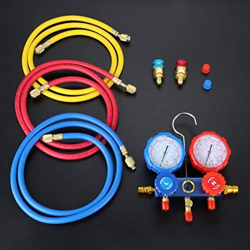 - Iris-Shop - Air Conditioning Gauge Set Charging Hose A/C Quick Coupler Connect Valve R134A R134 R12 R502 Refrigerant Tool Fitting