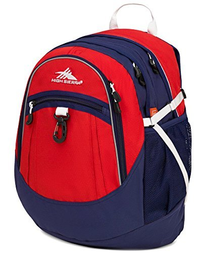 High Sierra Men's Colorblocked Fatboy Backpack (One Size, Red) [並行輸入品] B07DVHSGLC