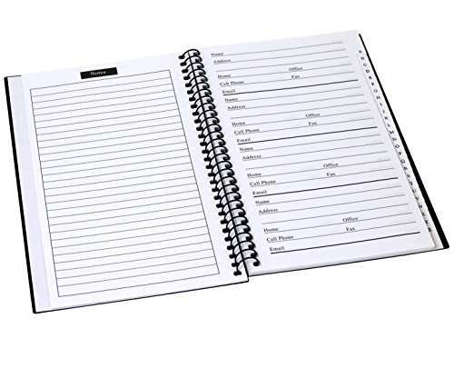 Buy large address book with tabs