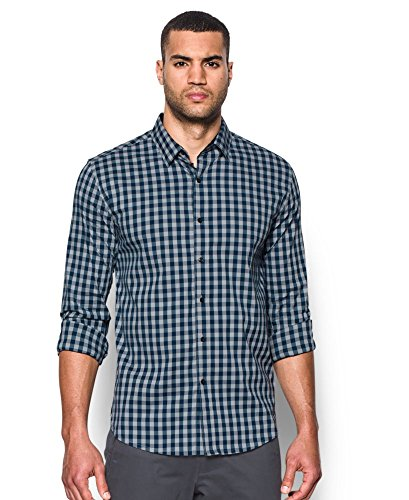 Under Armour Men's Performance Woven Shirt, Overcast Gray/Academy, Small by Under Armour (Image #4)