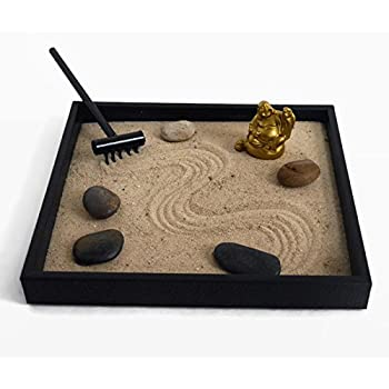 Gold Buddha Statue Zen Garden Desktop Relaxation Gifts For Office Decor    Buddha Decor Meditation Tools For Desk