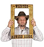 "Beistle 52158 Western Wanted Photo Fun Frame, 15.5"" x 23.5"", Multicolor"