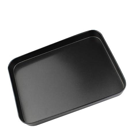 Bandejas para hornos universal inoxidable - Bandeja de horno para galletas de pan de pizza - Sano, no tóxico y antiadherente, fácil de limpiar y apto ...