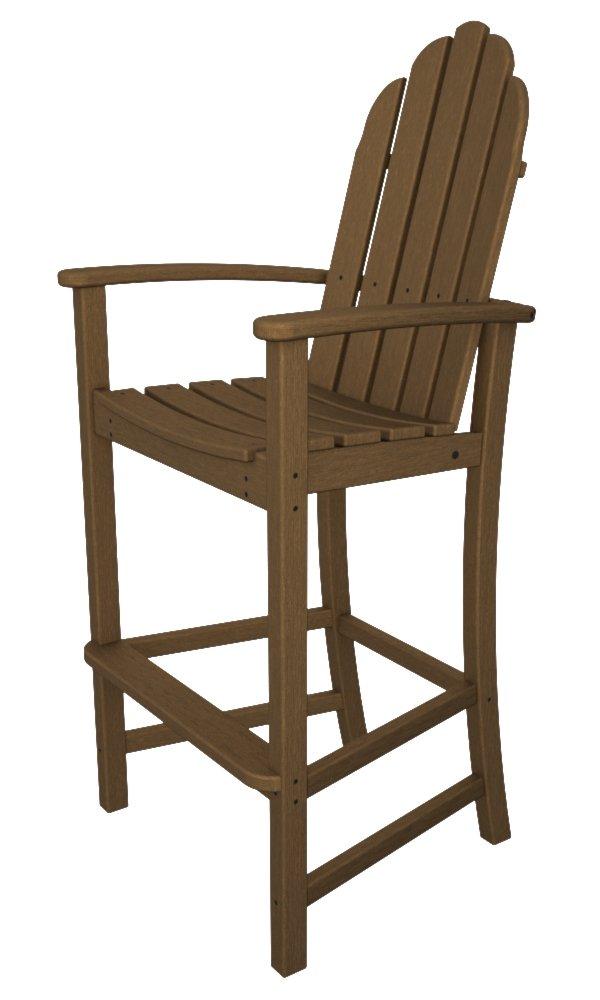Amazon.com : POLYWOOD Adirondack Bar Height Chair, Teak : Patio Dining  Chairs : Garden U0026 Outdoor