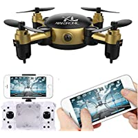 Drone, Hometom YL S18 Foldable Camera RC Mini Wifi Quadcopter 2.4G 4CH 6 Axis Gyro 3D UFO FPV RC Gold