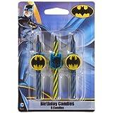 Batman Birthday Cake Candles - 6 pc