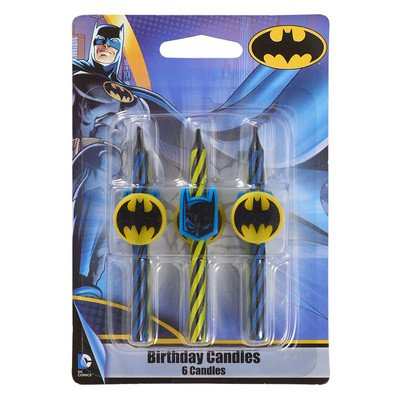 Lego Batman Birthday Party Supplies (Batman Birthday Cake Candles - 6)