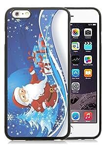 Customization iPhone 6 Plus Case,Merry Christmas Black iPhone 6 Plus 5.5 TPU Case 36