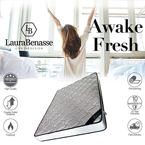 King Size Mattress by Laura Benasse | Memory Foam | Two Sided | 10 Year Warranty | Available In Multiple Sizes  (Mattress Sided King)
