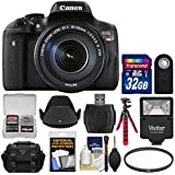 Canon EOS Rebel T6i Wi-Fi Digital SLR Camera & EF-S 18-135mm is STM Lens 32GB Card + Case + Flash + Tripod + Filter + Remote + Hood + Kit