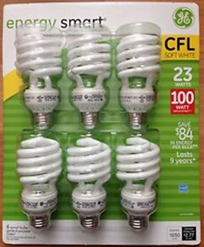 GE 23 Watt Energy Smart CFL - 100 Watt Replacement (pack of 6)