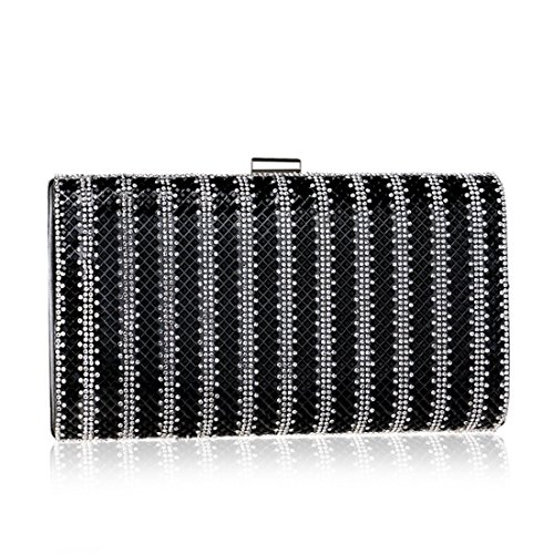 Ladies Bag Handbag Gold Banquet Evening Color Dress Clutch Bag Diamond Black Purse Evening KERVINFENDRIYUN xw0Rtt