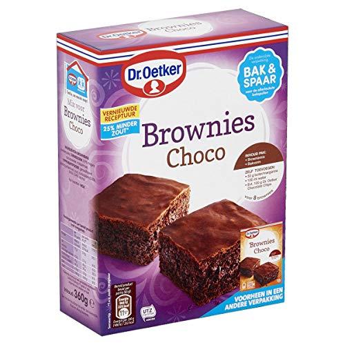 Dr.Oetker Chocolade brownies met bakvorm – bakmix voor 6 porties (360 g)