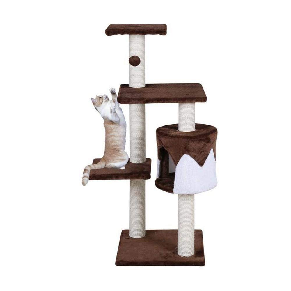 TOUYOUIOPNG Deluxe Multi Level Cat Tree Creative Play Towers Trees for Cats Sisal Corrugated Cat Scratch Board sisal cat cat Nest Cat Toy 40  40  112cm