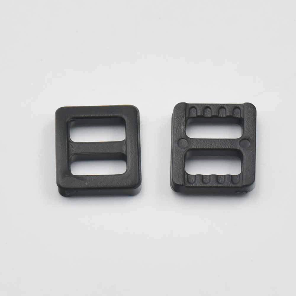 100 Pcs 1 25mm Adjustor Triglides Slides for Buckles Leather strap Belt Webbing Black micoshop