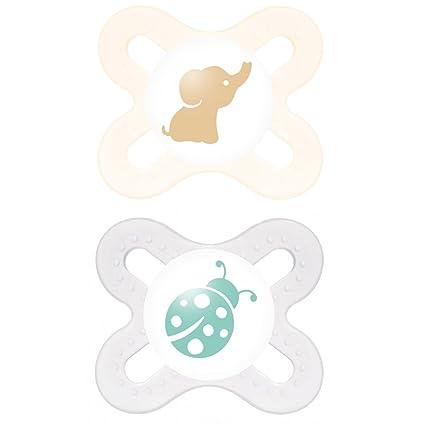 Mam - START silicona 0 - 2, Chupete, tejido, doble Pack ...