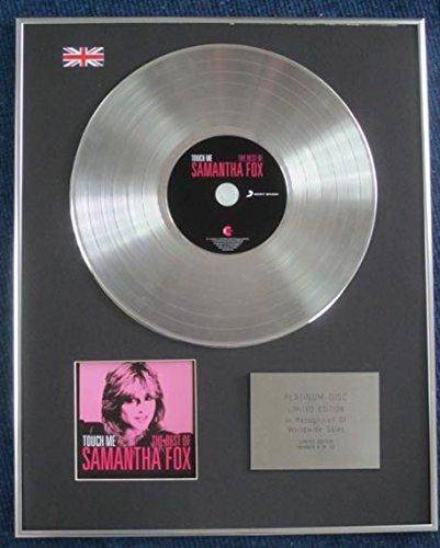 Samantha Fox – Limited Edition CD Platinum LP Disc – Touch Me