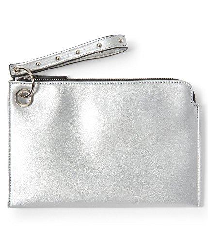 Aeropostale Wallet - Aeropostale Womens Metallic Wristlet Wallet, Metallic, One Size