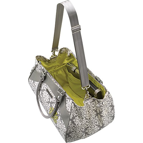 Petunia Pickle Bottom Wistful Weekender - Bolso multiuso para mamá, color gris Gris (Breakfast In Berkshire)