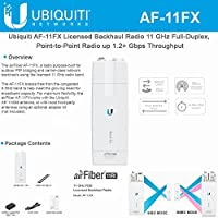 AirFiber 11FX AF-11FX Licensed Backhaul Wi-FI Radio 11GHz Full-Duplex Point to Point Radio