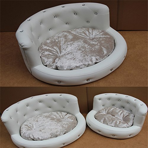 Garden-Pets-Dog-Bed-Princess-Tactic-VIP-Bichon-Diamond-Puppy-Kennels-Bed-Washable-Leather-Summer-Pet-Sofa-Luxury