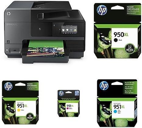 HP Officejet Pro 8620 Pack - Impresora multifunción de tinta + Cartucho de tinta original, negro XL (950) + Cartucho de tinta original, cian XL (951) + Cartucho de tinta original, magenta