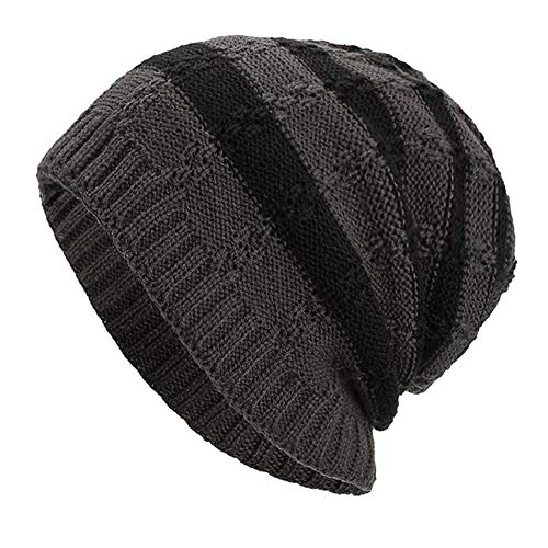 Watch Bulls Online Chicago - iYBUIA Women Men Warm Baggy Weave Crochet Winter Wool Knit Ski Beanie Skull Caps Hat(Gray,One Size)
