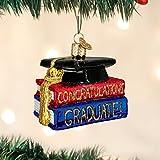 Old World Christmas Congrats Graduate Glass Blown Ornament