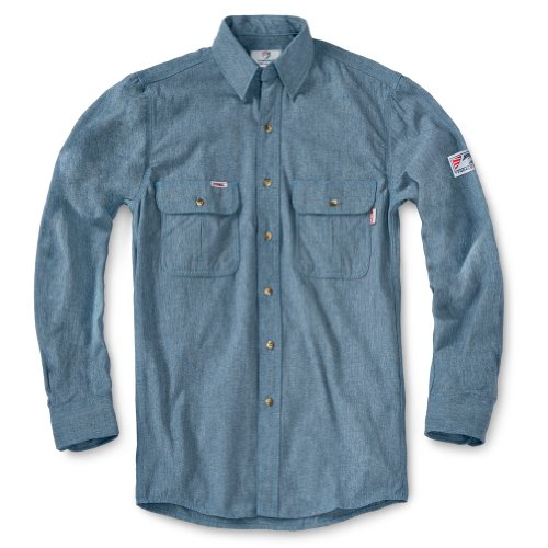 Tyndale Men's FRC FRMC Rustic Work Shirt XLARGE Weathered Blue