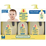 Johnson's Baby Head-to-Toe Wash (2 - 33.8 fl. oz., 1 - 9 fl. oz.) (pack of 6)