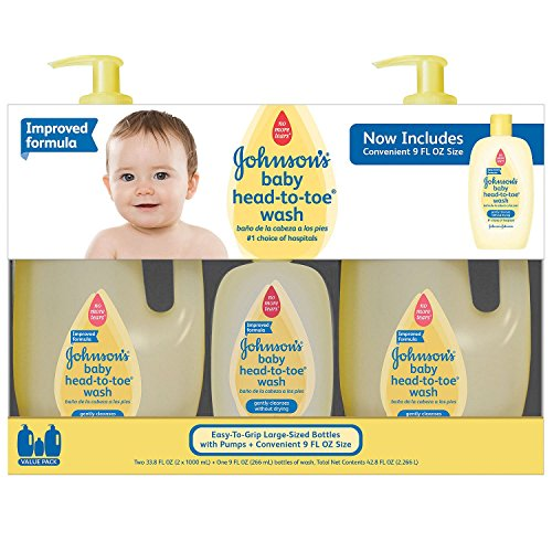 Johnson's Baby Head-to-Toe Wash (2 - 33.8 fl. oz., 1 - 9 fl. oz.) (pack of 6) by Johnson's