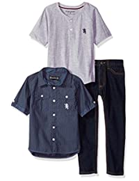 Inglés lavandería Boys & apos; camiseta, playera de manga corta y Pant Set (más estilos)