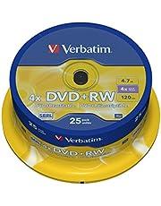 Verbatim DVD+RW 43489 Spindle (Pack of 25)