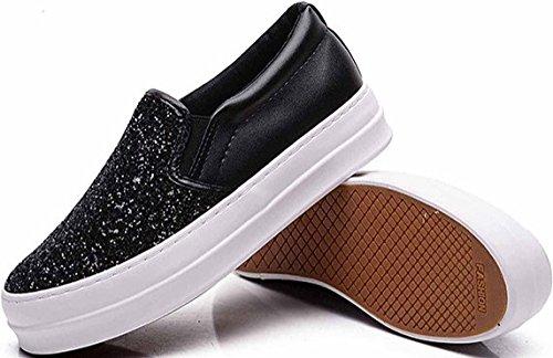 Black Paillette Laruise Shoes Canvas Women's IaPwqnFU
