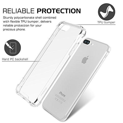 MoKo iPhone 8 Plus / 7 Plus Funda - Avanzado Ultra Delgado TPU de Parachoques Flexible Gel Shock Anti-arañazos Back Cover con Cool Pattern para Apple iPhone 8 Plus / 7 Plus, No Me Toques Crystal CLARO-AA