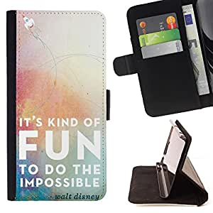 SHIMIN CAO- Dise?o Caso duro de la cubierta Shell protector FOR Apple iPhone 5C- It Kind of Fun To do the impossible