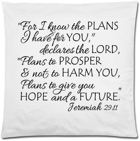 Living Room Pillow Bible Verse Pillow Jeremiah 29:11 Pillow Home Decor Pillow Throw Pillows Pillow Covers 18x18 Scripture Pillows