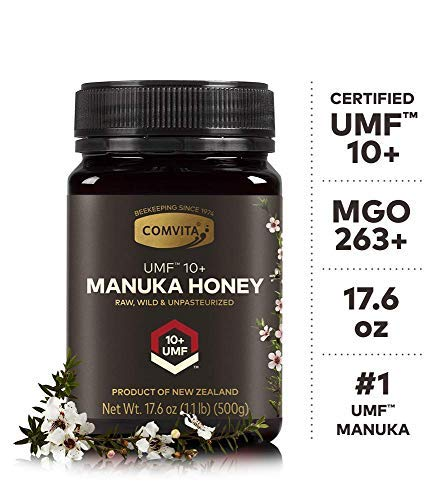 Comvita Certified UMF 10+ (MGO 263+) Raw Manuka Honey I New Zealand's #1 Manuka Brand I Authentic, Wild, Unpasteurized, Non-GMO Superfood I Premium Grade I 17.6 oz (Best Food For Ulcer Patient)