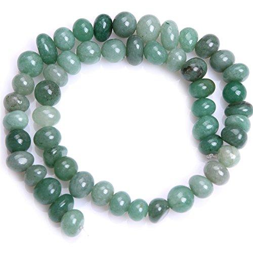12mm Green Jade Earring - Green Jade Aventurine Semi Precious Gemstone Beads for Jewelry Making Strand 15'' (8-10x12-14mm/potato shape)