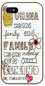 Ohana means family, family means nobody gets left behind or forgotten - Notebook, Inspired by Lilo And Stitch - iPhone 5 / 5s black plastic case / Inspiration Walt Disney quotes