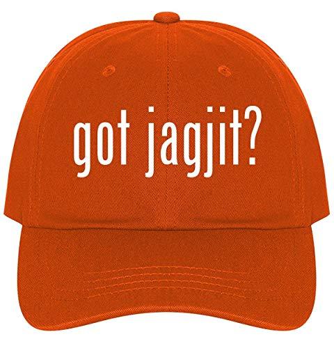 The Town Butler got Jagjit? - A Nice Comfortable Adjustable Dad Hat Cap, Orange (Mirza Ghalib Best Ghazals)