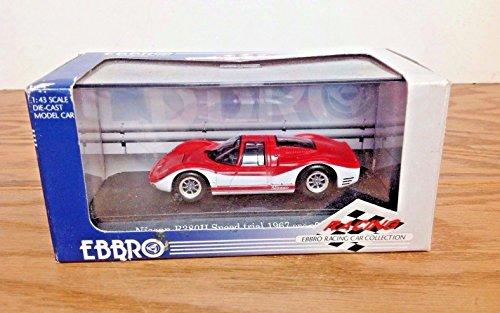 EBBRO Nissan R380 II Speed Trial VIBRANT Red White Die-Cast Model Car (43 Red Diecast Model)